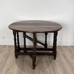 Charles II Oak Drop Leaf Table England 17th Century - 1409085