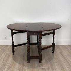 Charles II Oak Drop Leaf Table England 17th Century - 1409086