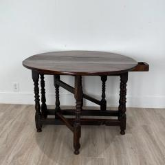 Charles II Oak Drop Leaf Table England 17th Century - 1409087