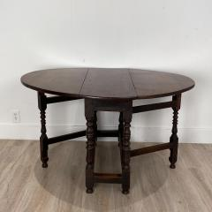 Charles II Oak Drop Leaf Table England 17th Century - 1409088