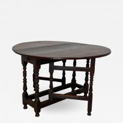 Charles II Oak Drop Leaf Table England 17th Century - 1411265
