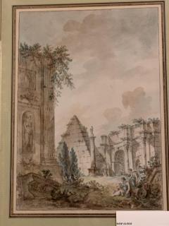 Charles Louis Clerisseau Capriccio with Roman Ruins - 1019955