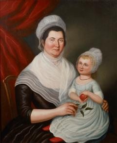 Charles Peale Polk Portrait of Mrs Jacob Ten Broeck and Daughter - 71610