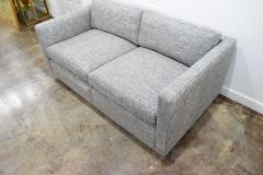 Charles Pfister Charles Pfister for Knoll Settee in Pollack Blue Weave Fabric - 1633482