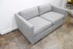 Charles Pfister Charles Pfister for Knoll Settee in Pollack Blue Weave Fabric - 1633483