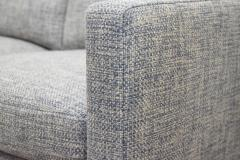 Charles Pfister Charles Pfister for Knoll Settee in Pollack Blue Weave Fabric - 1633486