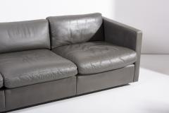 Charles Pfister Knoll Charles Pfister Sofa Set in Grey Leather USA 1970s - 1990319