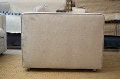 Charles Pfister Knoll Pfister Club Chair in Silver Linen Velvet - 246349