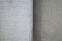 Charles Pfister Knoll Pfister Loveseat in Silver Linen Velvet - 246380
