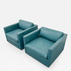 Charles Pfister Pair of Charles Pfister Leather Lounge Chairs - 66900