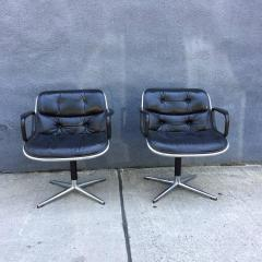 Charles Pollock Pair of Early Charles Pollock for Knoll Accent Chairs - 556312