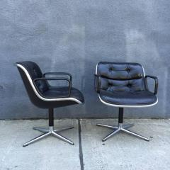 Charles Pollock Pair of Early Charles Pollock for Knoll Accent Chairs - 556314