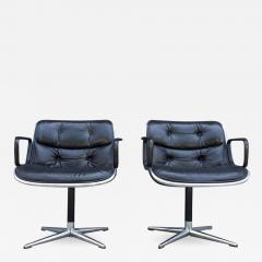 Charles Pollock Pair of Early Charles Pollock for Knoll Accent Chairs - 556927
