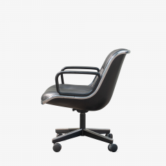 Charles Pollock Pollock Executive Chairs in Black Leather by Charles Pollock for Knoll - 1629916