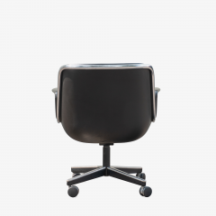 Charles Pollock Pollock Executive Chairs in Black Leather by Charles Pollock for Knoll - 1629917