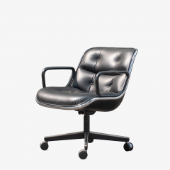 Charles Pollock Pollock Executive Chairs in Black Leather by Charles Pollock for Knoll - 1629919