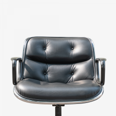 Charles Pollock Pollock Executive Chairs in Black Leather by Charles Pollock for Knoll - 1629920