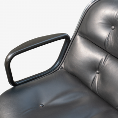Charles Pollock Pollock Executive Chairs in Black Leather by Charles Pollock for Knoll - 1629922