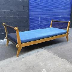 Charles Ramos Charles Ramos superb metal perforated side and wood day bed - 1730781