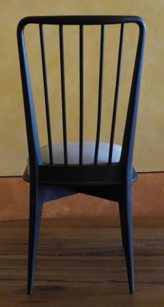 Charles Ramos Mid Century Modern Set of 6 French Black and Gray Chairs by Charles Ramos - 1696746