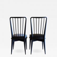 Charles Ramos Mid Century Modern Set of 6 French Black and Gray Chairs by Charles Ramos - 1698328