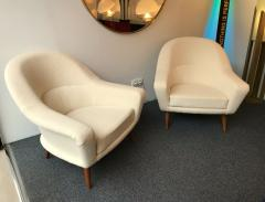 Charles Ramos Pair of Armchairs by Charles Ramos France 1950s - 718127