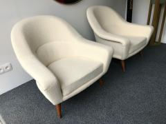 Charles Ramos Pair of Armchairs by Charles Ramos France 1950s - 718128