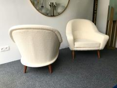 Charles Ramos Pair of Armchairs by Charles Ramos France 1950s - 718129
