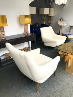 Charles Ramos Pair of Armchairs by Charles Ramos France 1950s - 880442