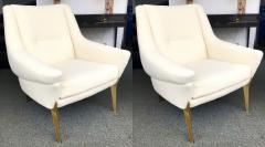 Charles Ramos Pair of Armchairs by Charles Ramos France 1950s - 880445