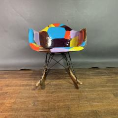 Charles Ray Eames 1950s Elephant Hide Eames RAR Rope Edge Rocking Chair updated by Jim Oliveira - 1340556