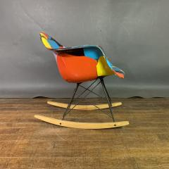 Charles Ray Eames 1950s Elephant Hide Eames RAR Rope Edge Rocking Chair updated by Jim Oliveira - 1340564