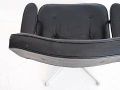 Charles Ray Eames Charles Ray Eames Black Leather Lobby Chair ES 108 - 1243019