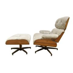 Charles Ray Eames Danish Eames Style Chair And Ottoman 1970s - 1462821