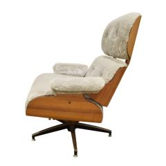 Charles Ray Eames Danish Eames Style Chair And Ottoman 1970s - 1462822