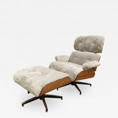 Charles Ray Eames Danish Eames Style Chair And Ottoman 1970s - 1464838
