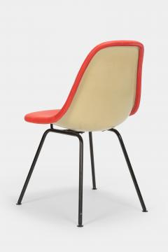 Charles Ray Eames Eames Side Chair Red Leather 60s - 1638655