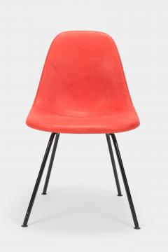 Charles Ray Eames Eames Side Chair Red Leather 60s - 1638672