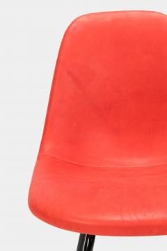 Charles Ray Eames Eames Side Chair Red Leather 60s - 1638676