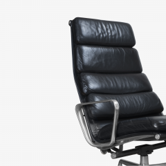Charles Ray Eames Eames Soft Pad Lounge Chair in Leather by Charles Ray Eames for Herman Miller - 2098799