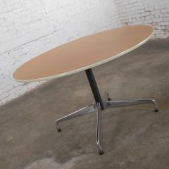 Charles Ray Eames Eames herman miller round tables universal base wood grain laminate top - 1843808
