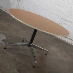 Charles Ray Eames Eames herman miller round tables universal base wood grain laminate top - 1843810