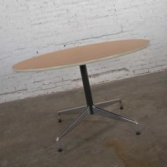 Charles Ray Eames Eames herman miller round tables universal base wood grain laminate top - 1843811
