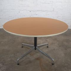 Charles Ray Eames Eames herman miller round tables universal base wood grain laminate top - 1843815