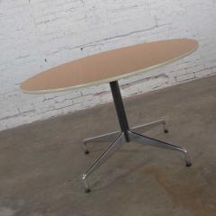 Charles Ray Eames Eames herman miller round tables universal base wood grain laminate top - 1843825