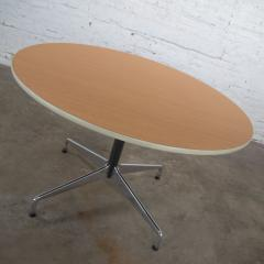 Charles Ray Eames Eames herman miller round tables universal base wood grain laminate top - 1843828