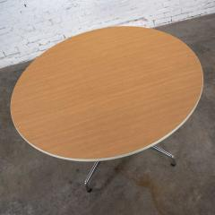 Charles Ray Eames Eames herman miller round tables universal base wood grain laminate top - 1843830