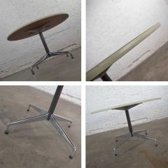Charles Ray Eames Eames herman miller round tables universal base wood grain laminate top - 1843834