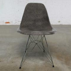 Charles Ray Eames Vintage mid century modern herman miller eames dsr chair elephant hide grey - 1682098