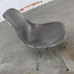 Charles Ray Eames Vintage mid century modern herman miller eames dsr chair elephant hide grey - 1682104